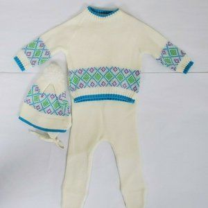 Vtg Mothercare Knit Infant Baby Outfit 18 lbs